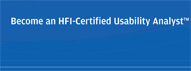 Become an HFI certified usability analyst brochure