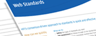 Read HFI's detailed consulting sheet on web standards